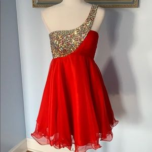 JVN by Jovani homecoming formal dress